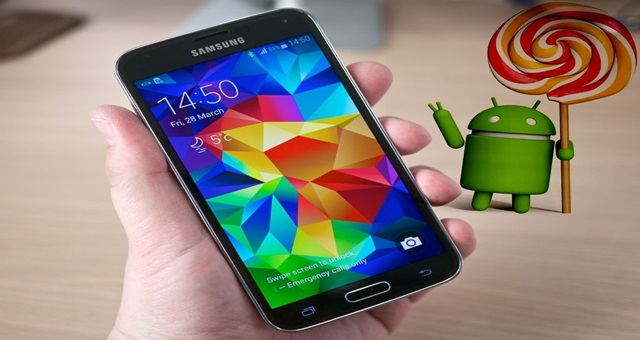 Samsung Galaxy S5 ve Android 5.0 Lollipop